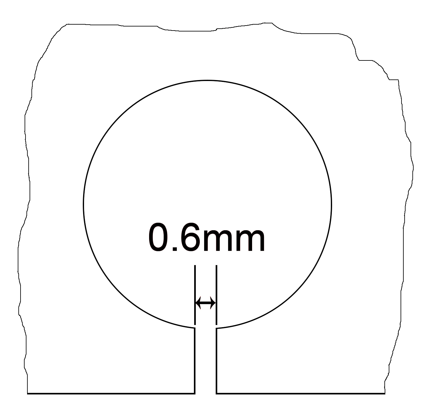 mechanical part with 0.6mm diameter